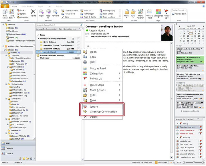 microsoft office 2010 outlook new signature