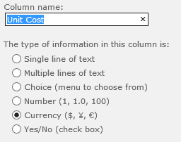 Spreadsheet to SharePoint: Currency Column Types and Totals - New