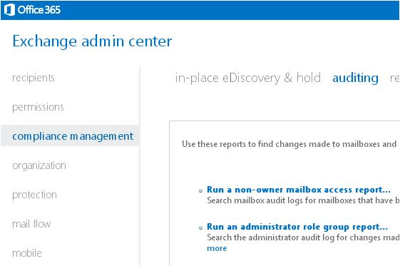 Auditing email data and systems in Office 365 - New Signature