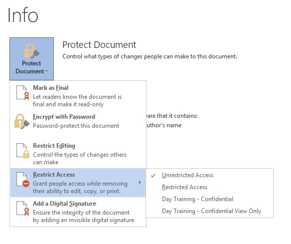 Microsoft Azure Rights Management For Office 365