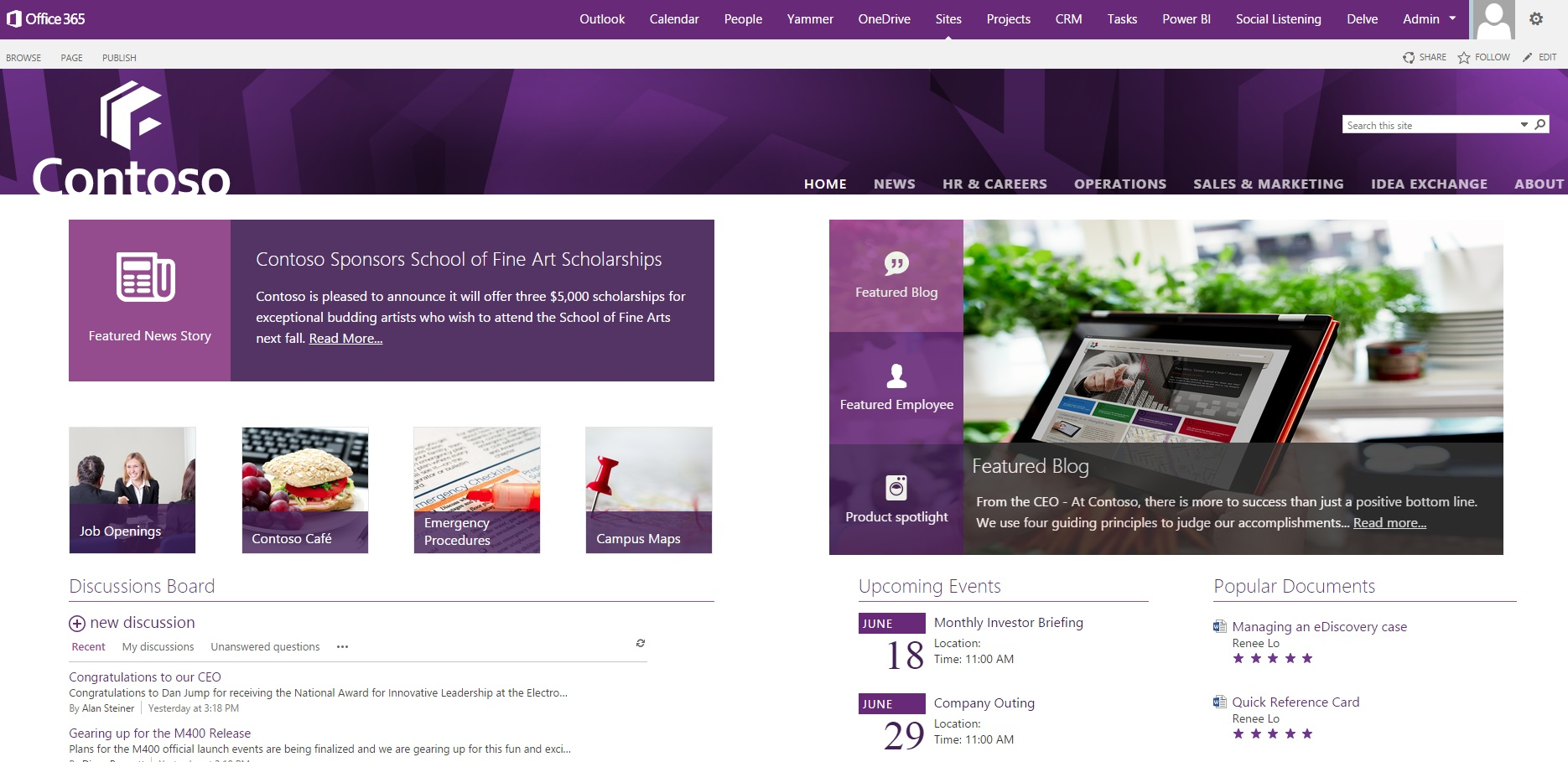 sharepoint site templates