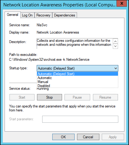 NLA-Service-Settings