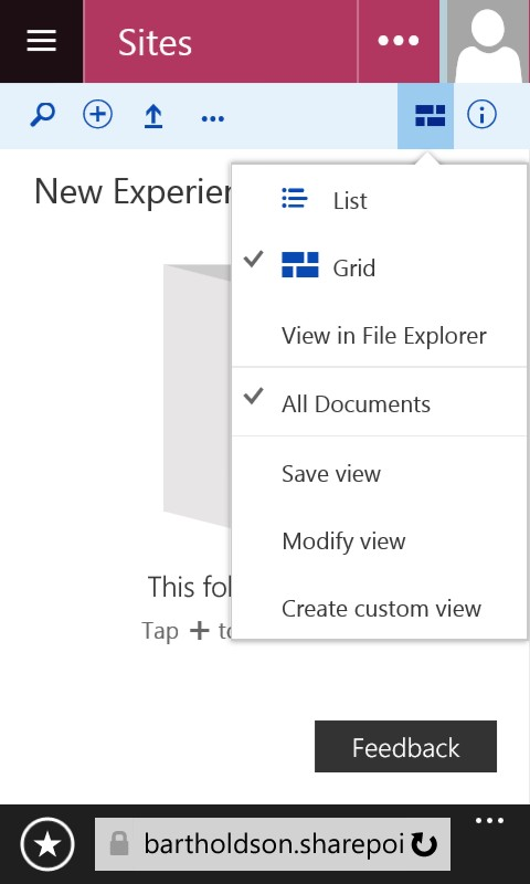 New Experience Document Library Views