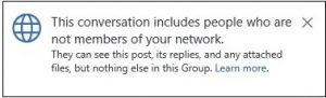 Adding External Person to a Yammer conversation