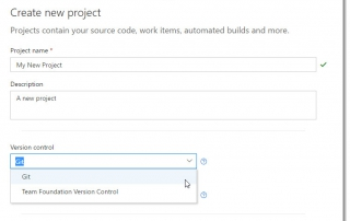 Choosing Git for source control of your new project in VSTS