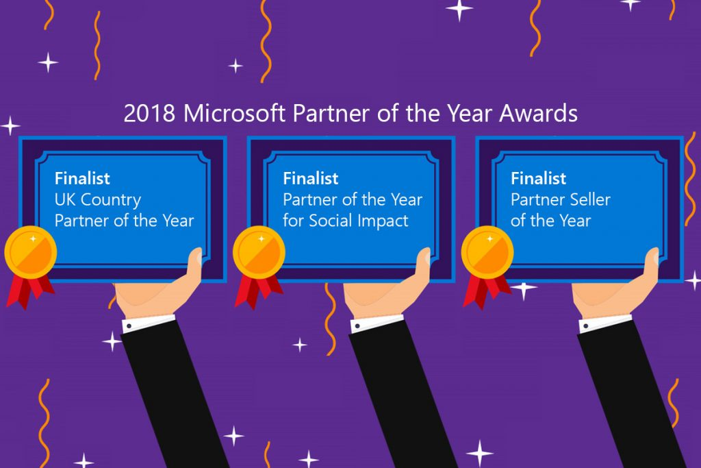 new signature recognized as finalists in three microsoft inspire